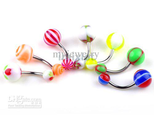 Brand New Belly Button Rings 18g Fashion Curved Navel Rings Navel Ring Body Jewellery Free Shipping Ba10 60