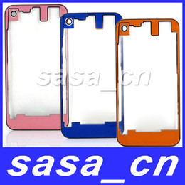 Wholesale Iphone Battery 4gs - Back Clear Housing Glass Back Cover Assembly For iPhone 4S 4GS Battery Door With camera lens