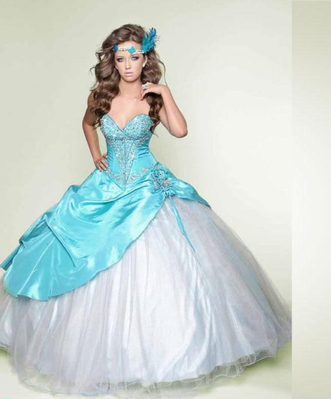 White And Teal Wedding Dress Wedding Dresses Wedding Ideas And