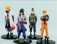 Wholesale Naruto Anime - Cartoon 11 generation 4 style naruto hand do doll furnishing articles anime dolls model surrounding