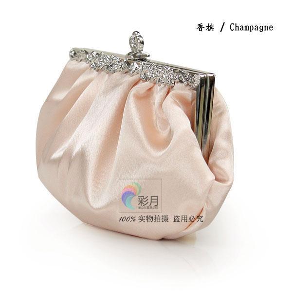 Gratis frakt satin burgundy vit svart champagne kväll fest koppling elegant bröllop burgundy brud handväska