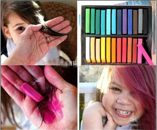 Temporary Hair Color Dye Pastel Chalk Bug Rub,Crayon Chalk, Mix ...