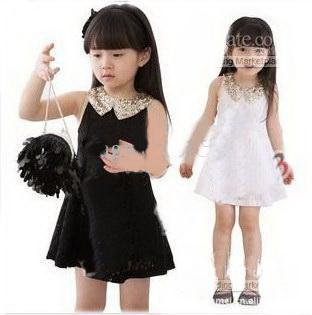 Black tank dress for girls