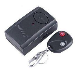 Envío gratis 5 Unids / lote Alarma de Vibración de Control Remoto Inalámbrico para Puerta Ventana Color Negro desde fabricantes