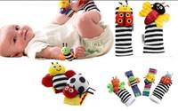 Wholesale Lamaze Bee Toy - In stock Lamaze Wrist Rattle Foot Finder Ladybug Bee Plush toy toddler Infant toys kids toys asdy