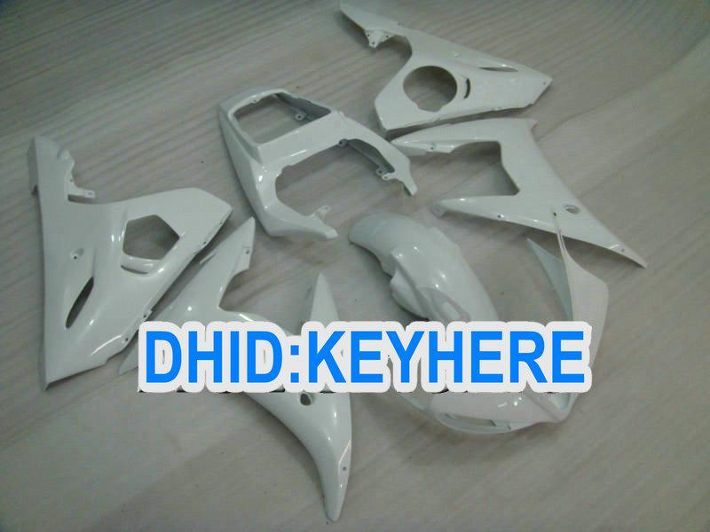 Todos los kits de carenado blanco perla ABS para YAMAHA 03 04 YZFR6 2003 2004 YZF-R6 03 04 YZF R6 piezas de la carrocería