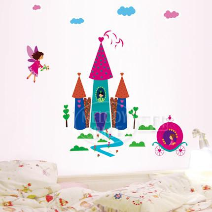 Ld1161 Castle Wall Decal Sticker Nursery Girl Room Wall Decor Kids Wall Art  Stickers Wall Decals Wall Decals Uk Wall Decals Vinyl From Jeanwill, ...