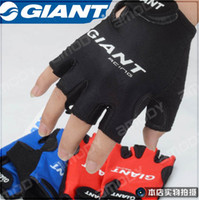 Wholesale Glove Bicycling - GIANT Solid Durable Stylish Half Finger Bicycle Bike Riding Driving Cycling Sports Gloves mitts mitten
