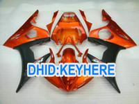 personalizando yzf r6 al por mayor-YNL122 Personaliza kits de carenado de plástico ABS naranja para YAMAHA YZF-R6 2003 2004 YZF-R6 YZFR6 03 04