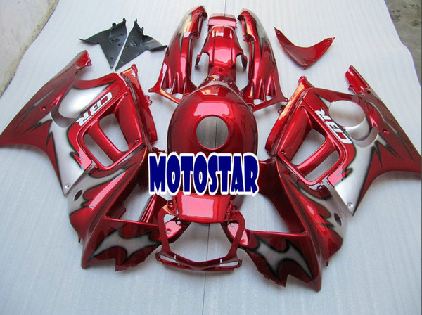 Free customize Red Fairing kits for honda CBR600F3 95 96 CBR600 F3 1995 1996 CBR 600F3 aftermarket fairings kit