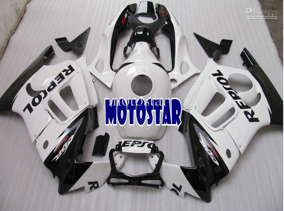 H2505 Free Ship White REPSOL ABS Fairing kit for CBR600F3 95 96 CBR600 F3 1995 1996 CBR 600 95 96