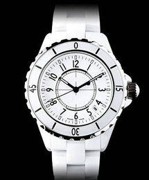 Wholesale New Fashion Womens - Luxury Swiss Brand fashion style womens dive watch white ceramic luxury lady watches japan quartz movement CH107