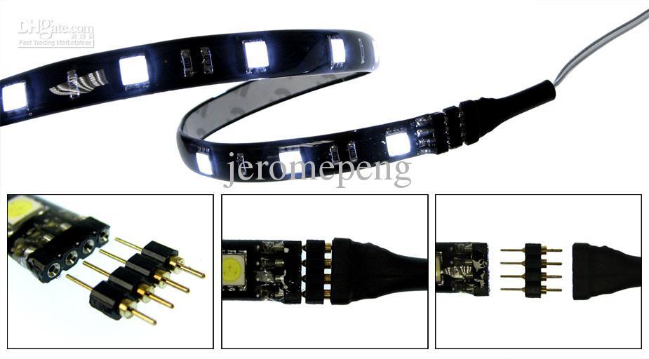 Conector de la tira de 4Pin RGB LED varón femenino envío libre