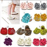 Wholesale Cute Blue Christmas Shoes - 21PCS TOP BABY foot flower shoes,Cute baby toddler shoes,Baby supply,children's shoes,Christmas gift