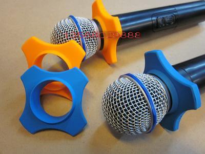 Verdrahtetes / drahtloses Mikrofon Anti-Rutsch-Ring Mikrofon Drop-Widerstand Kreis Sechskant Anti-Rutsch-Ring