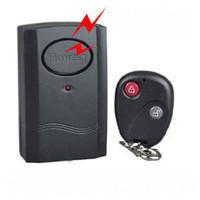 alarme à distance de la fenêtre de porte achat en gros de-1 pièce alarme de vibration de télécommande sans fil de couleur noire pour la fenêtre de porte