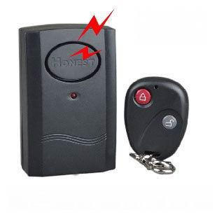 1 piece Black Colour Wireless Remote Control Vibration Alarm for Door Window
