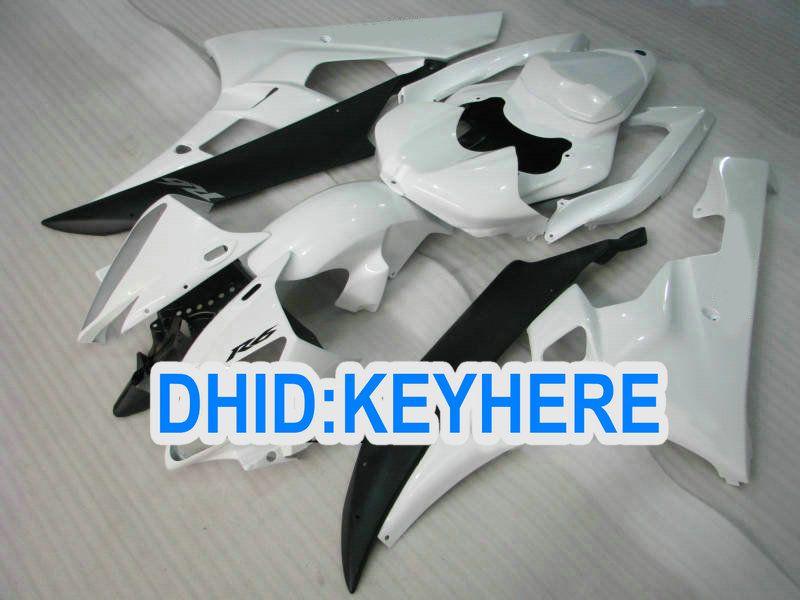Personnaliser le kit de carénage en ABS blanc pour YAMAHA 2006 2007 YZF-R6YZF 600R YZF R6 06 07