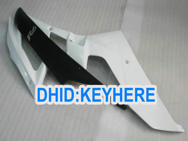 Personalizar el kit de carenado ABS blanco para YAMAHA 2006 2007 YZF-R6YZF 600R YZF R6 06 07 carenados bodykit