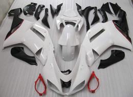 Red black kawasaki zx6R online shopping - Black white red full fairing kit FOR kawasaki ninja ZX6R ZX R ZX R ZX