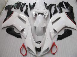 2019 красный белый zx6r обтекатель Черный белый красный полный обтекатель комплект для Kawasaki ninja ZX6R ZX-6R 636 07 08 ZX 6R 07-08 ZX-6 2007 2008 дешево красный белый zx6r обтекатель