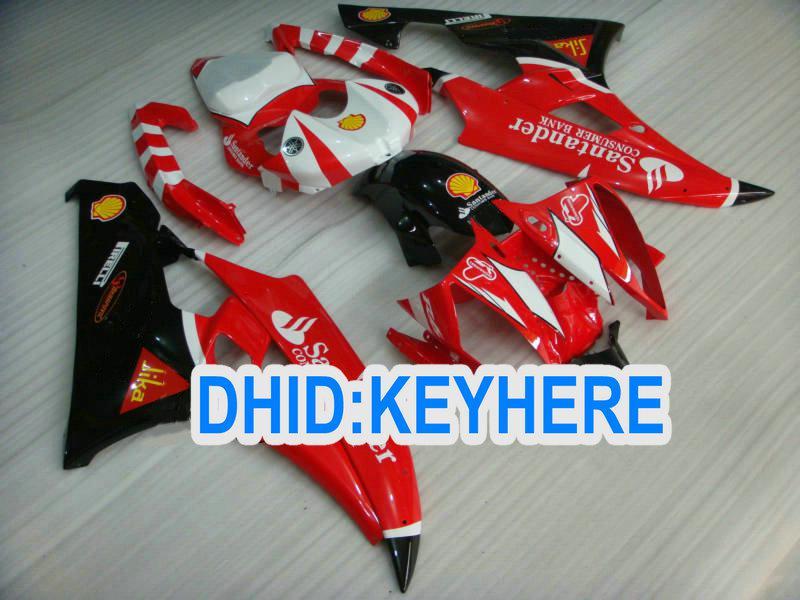 Anpassen des RED ABS Verkleidungssatzes für YAMAHA 2006 2007 YZF R6 YZF600R YZF-R6 06 07 Karosserie, 2 Geschenke