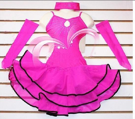 Acheter robe de danse de salon de danse latine pour - Danse de salon enfant ...