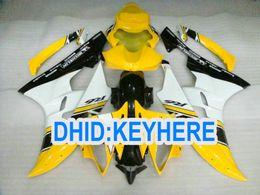 R6 giuntatura gialla online-Kit carena racing giallo chiaro ABS per YAMAHA YZF-R6 2006 2007 YZF 600 YZF R6 06-07 parte carrozzeria