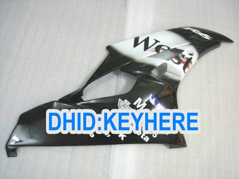 YAMAHA YZFR6 용 페어링 키트 2006 2007 YZF 600 YZF-R6 06 07 검은 서쪽 오토바이 레이싱 바디 작업