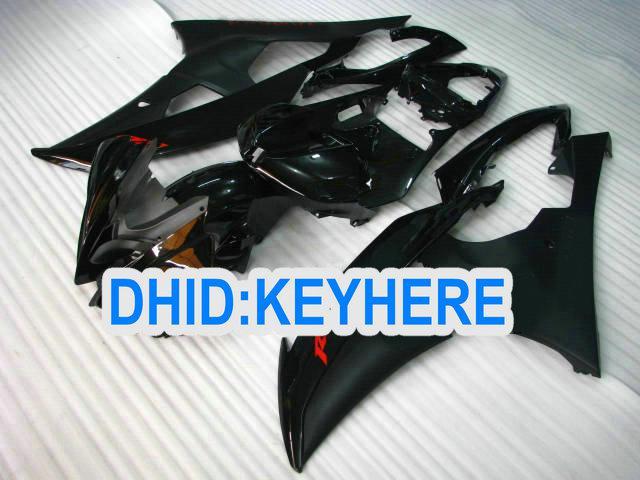 YNL171 All Black Racing Fairing Kit för Yamaha YZF-R6 2008 2009 2010 YZF R6 08-10 YZFR6 08 09 10