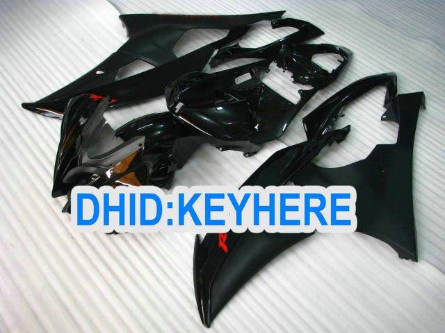 YNL171 올 블랙 레이싱 페어링 킷 YAMAHA YZF-R6 2008 2009 2010 YZF R6 08-10 YZFR6 08 09 10