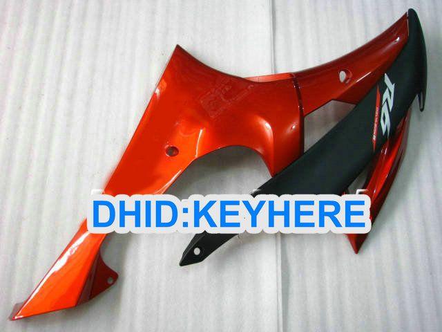 ヤマハyzf-r6 2008 2009年yzf R6 08-10 yzfr6 08 09 10のための注文のオレンジのABSレーシングフェアリングキット