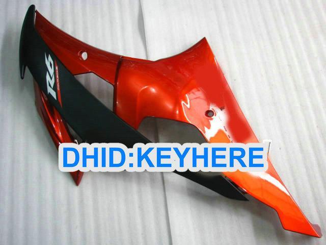 Aangepaste oranje ABS Racing Fairing Kit voor Yamaha YZF-R6 2009 2009 2010 YZF R6 08-10 YZFR6 08 09 10