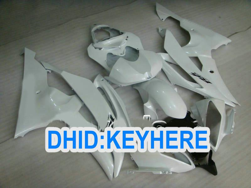 Alla Pearl White ABS Racing Fairing Kit för Yamaha YZF-R6 2008 2009 2010 YZF R6 08-10 YZFR6 08 09 10
