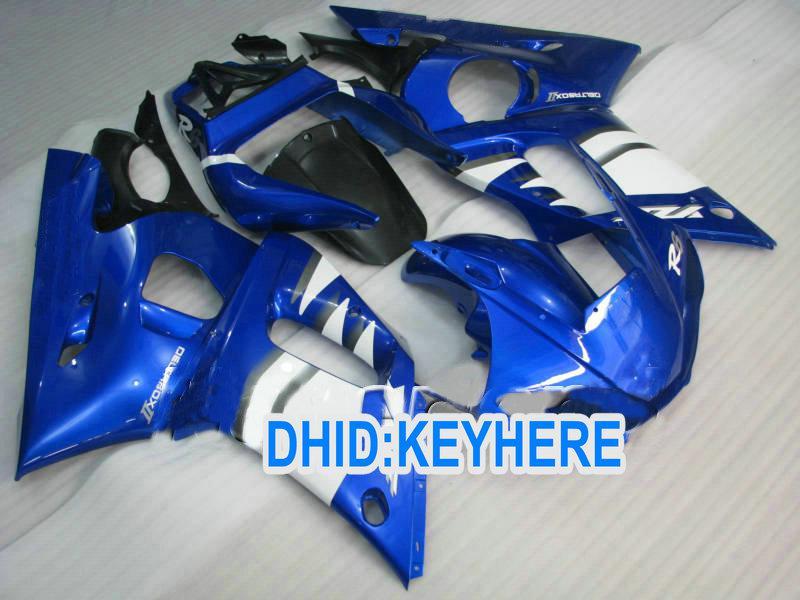 Kit de carenagem ABS Azul personalizado para YAMAHA YZF R6 1998-2002 YZF-R6 98 99 00 01 02 YZF R6 peças de carroçaria