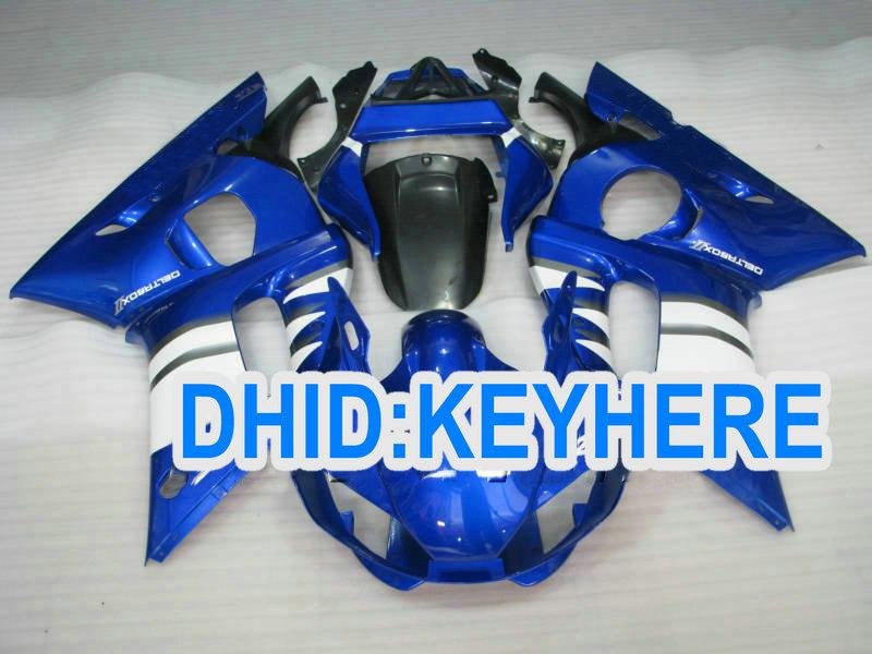 YAMAHA YZF R6 용 사용자 정의 블루 ABS 페어링 키트 1998-2002 YZF-R6 98 99 00 01 02 YZF R6 차체 부품
