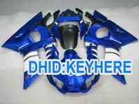 kit de carenado yamaha r6 azul al por mayor-YNL178 Blue ABS carenado kit para YAMAHA YZF R6 1998-2002 YZF-R6 98 99 00 01 02 YZF R6 piezas de la carrocería