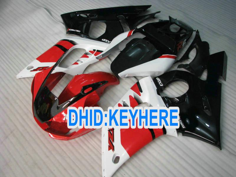 YAMAHA YZF R6 용 REDblack 레이싱 페어링 키트 1998-2002 YZF-R6 98 99 00 01 02 YZF 600 YZF R6