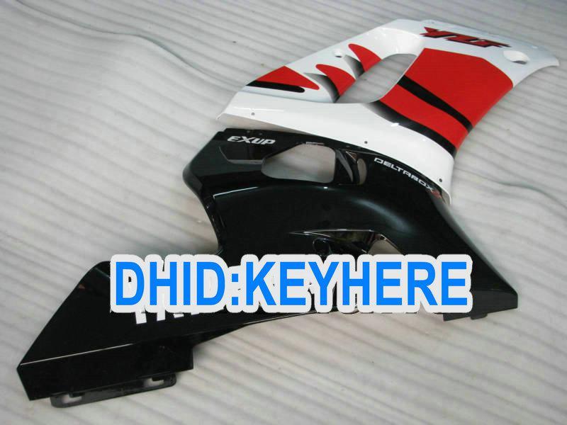 ヤマハYZF R6 1998-2002 YZF-R6 98 99 00 01 02 YZF 600 YZF R6のためのレッドブラックレーシングフェアリングキット