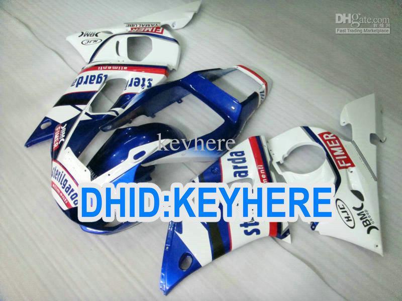 YNL189 Bluewhite Fairing Kit voor Yamaha YZF R6 1998-2002 YZF-R6 98 99 00 01 02 YZF600 Carrosserie Set