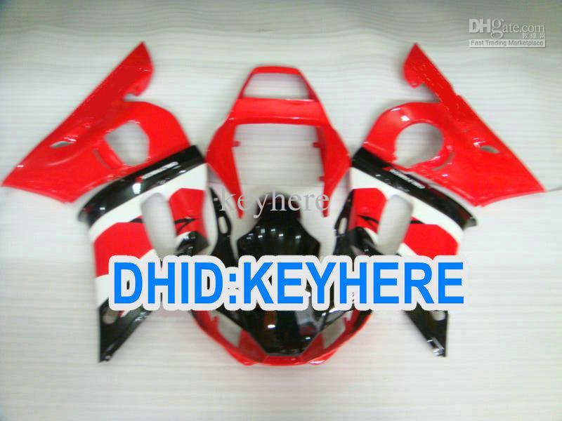 YNL190 Red Racing Fairing Kit för Yamaha YZF R6 1998-2002 YZF-R6 98 99 00 01 02 YZF600 Bodywork Set