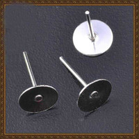 Wholesale DIY jewelry accessories ear nail back bar earing MP5008 mm earrings Stud support earring stud bar