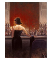 Wholesale Brent Lynch - Repro Brent Lynch Oil Painting On Canvas Evening Lounge