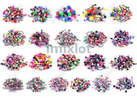 Wholesale Tongue Jewellery - 210 pcs Body Jewelry Nipple Lip Tongue Eyebrow belly Barbell Rings Jewellery Free Shipping[BA01-BA21 M*210]