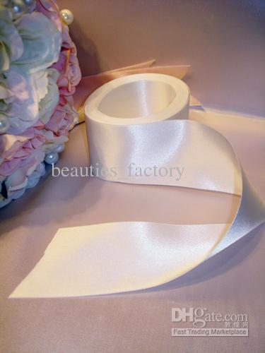 50mm Color White Satin Ribbon 2 Rolls (one roll 22m) Gift Wedding Decoration