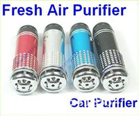 Wholesale Wholesale Air Bar - free shipping Mini Auto Car Fresh Air Purifier Oxygen Bar Ionizer,100pcs lot