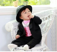 Wholesale Popular hot sell black tuxedo Boys Attire men s Groom Tuxedo wedding suits wedding dress