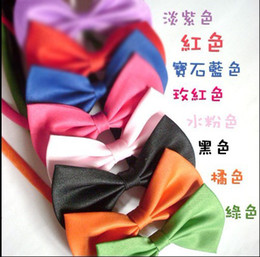 Wholesale Female Hair Colors - 50pcs lot mix colors of dog tie,dog bow tie,cat tie,can be used as head of flowers,dog supply