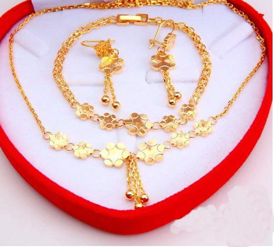 2018 Rose Gold Plated Fashion Jewelry Set Necklace Bracelet