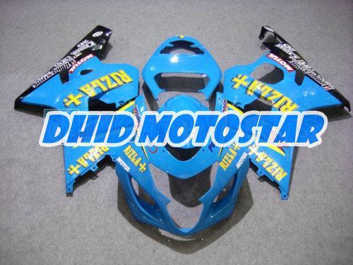 blue RIZLA ABS fairing kit FOR SUZUKI GSXR 600 750 K4 2004 2005 GSXR600 GSXR750 04 05 R600 R750